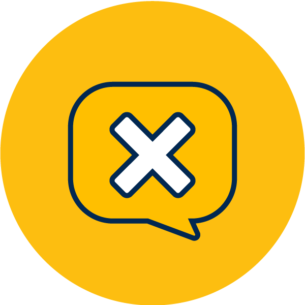 vector icon of alert message
