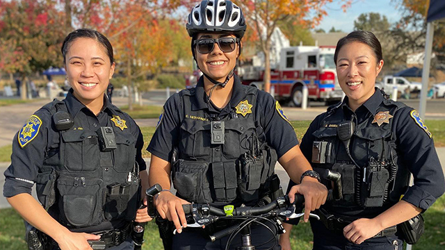 Photo of UC Davis police officers.