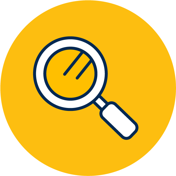 vector icon of magnifying glass